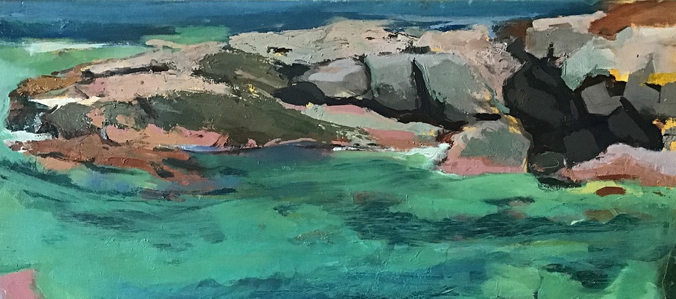 Paintings Out of Japan, Sea Notes from Devon / Caroline Romer